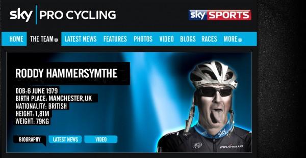 Hammersmythe. Sky's Giro captain.
