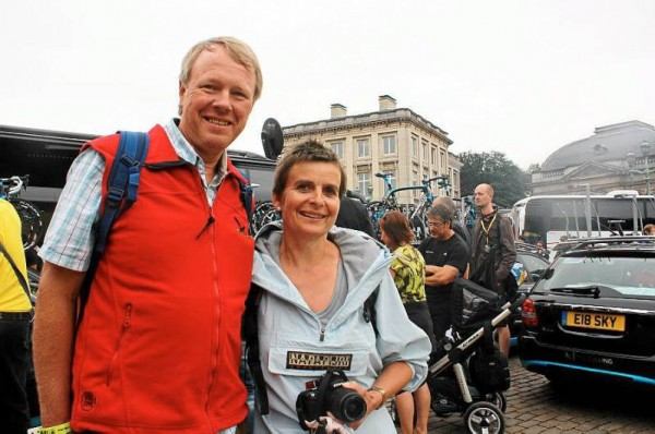 Eddy Juniors parents at the 2010 Tour de France.