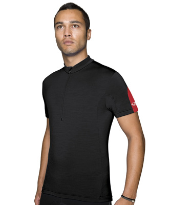 Cadence jersey. In black, red and light blue.
