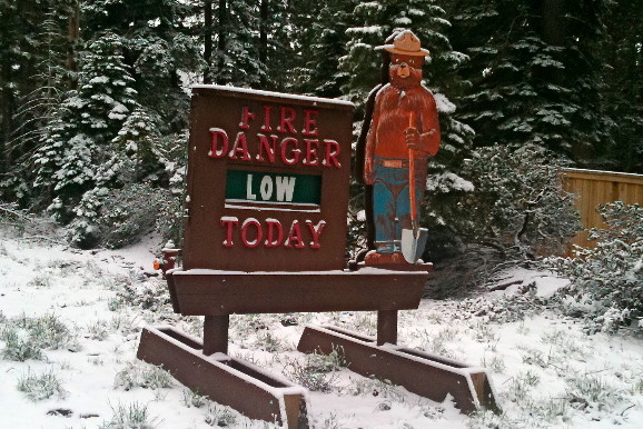 Fire danger low. Chances of bike race lower.