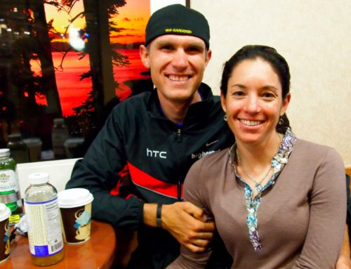 The Tour of California hotel latte. Tejay and girlfriend.