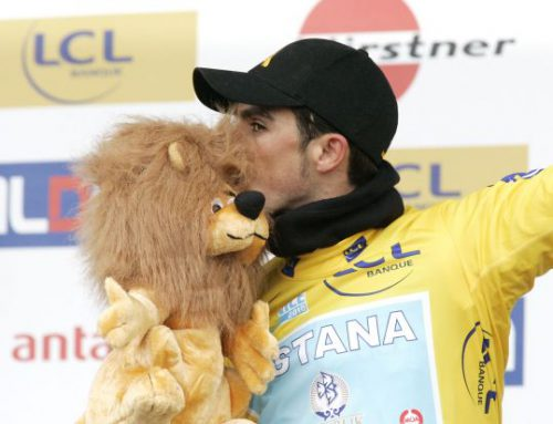 Prudhomme's lukewarm welcome. Contador free to ride tour