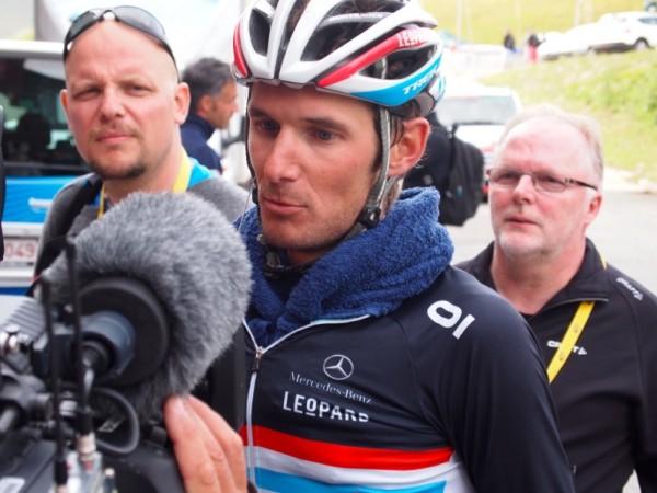 Frank Schleck, post Alp d'Huez.