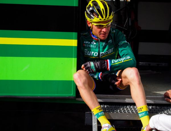 Voeckler after losing yellow on Alp d'Huez.