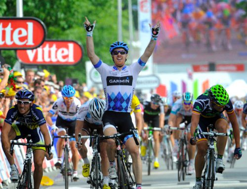 Finally! Farrar wins his first Tour de France sprint.