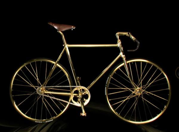 Aurumania 24 carat gold bikes