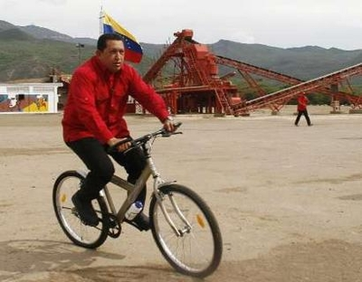 Chavez on training ride.