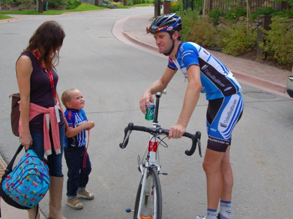 Sutherland & family, US Pro Cycling Challenge