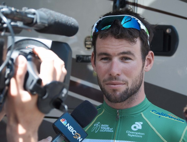 Mark Cavendish strikes a pose.