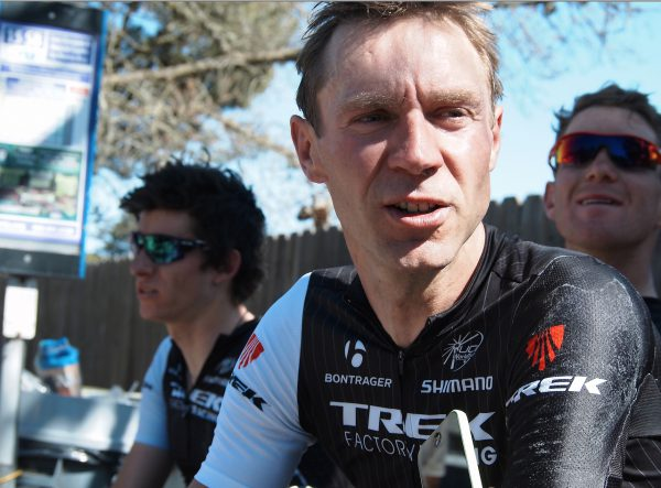 Jens Voigt post-stage in Cambria,