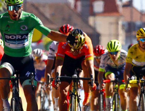 Sagan muscles his way to victory in Colmar.