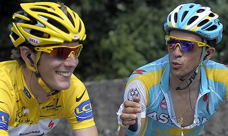 Andy Schleck threatens to retire if Contador retires.