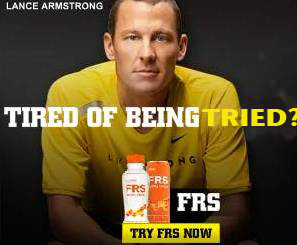 Lance Armstrong tired of being tried.