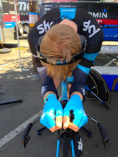 Sky's Ian Boswell gets focused.