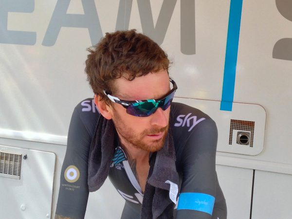 Wiggins cools down. Can you tell he won?