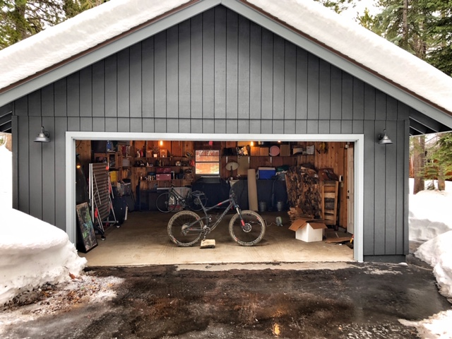 Locked down and riding in a freezing garage.