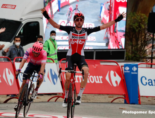 Wellens outwits rivals to win Vuelta stage 14